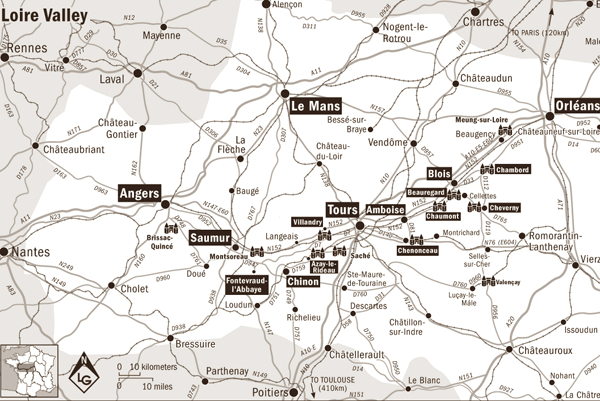 Map of the Loire Valley
